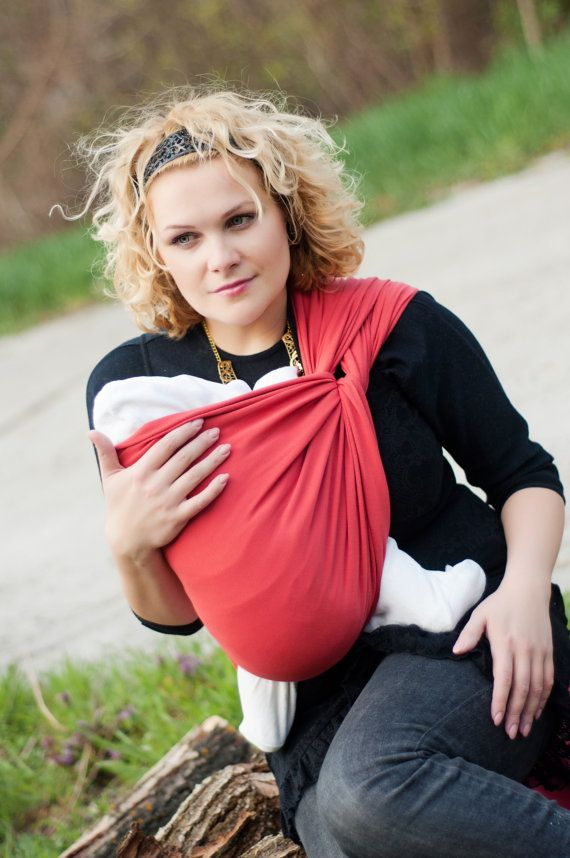 Sling Wrap for babies/ Coral Cotton/ by Bagy collection by bybagy