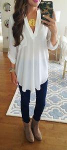 #summer #fashion / blouse + denim