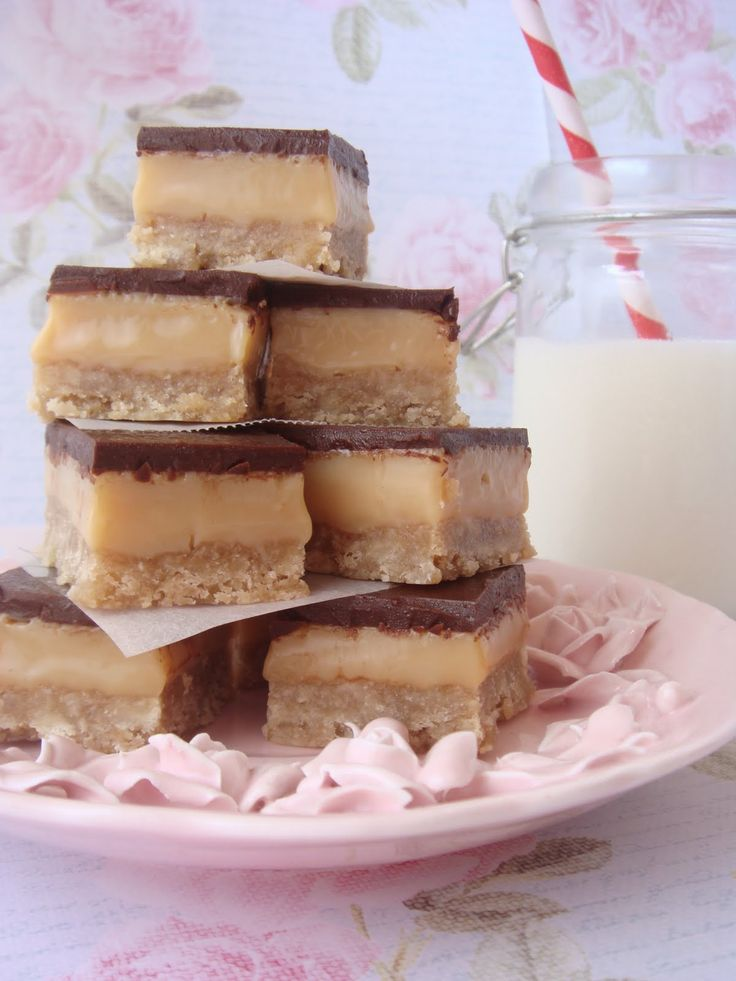 butter hearts sugar: Chocolate Caramel Slice  I've never heard of this but as soon as I find some desiccated coconut and golden syrup....it looks yummy!!!