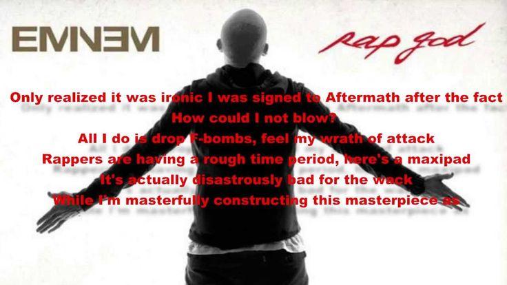 Eminem - Rap God Lyrics