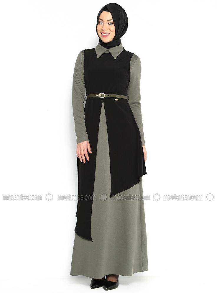 Two-Tone Dress - Black - Zella