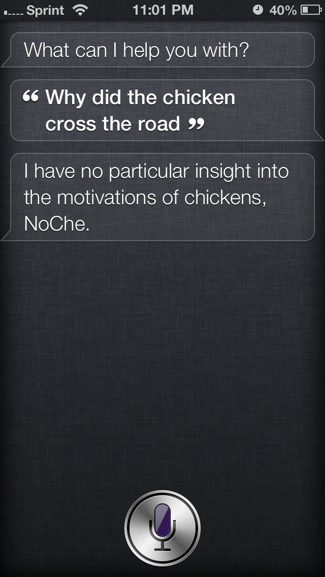 Siri being sarcastic