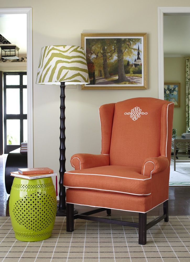 17 Best Ideas About Coral Chair On Pinterest Coral Paint Colors Colourful Living Room And
