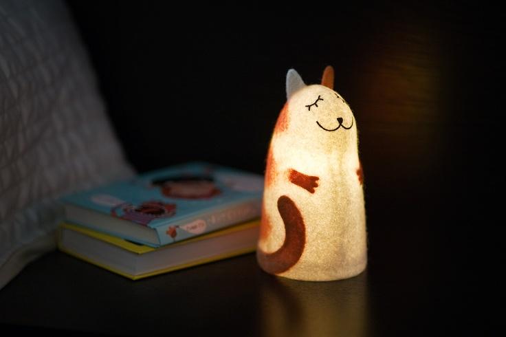 Оригинальные войлочные светильники-ночники ручной работы.