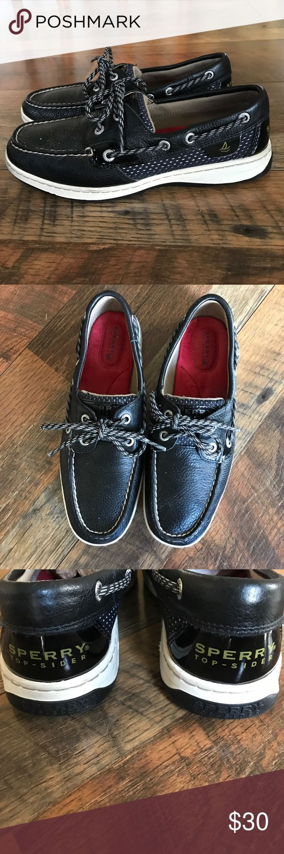 Black Sperry Top Sider Boat Shoes Black Sperrys Sperry Top-Sider Shoes Flats & Loafers
