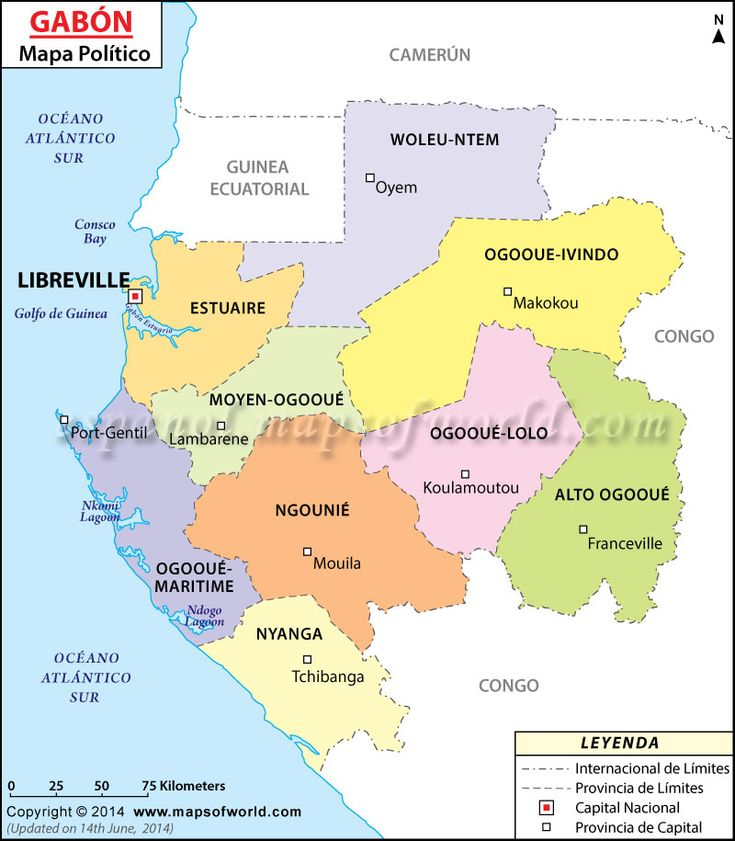 Mapa de #Gabon