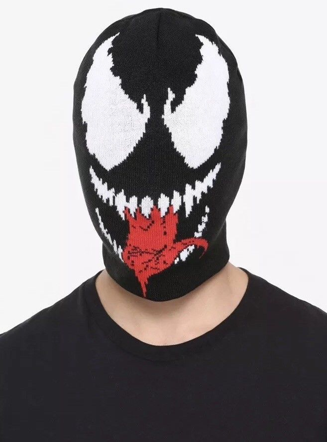 d3109b4db06e6 Marvel Venom Face Knit Winter Beanie Ski Hat New With Tags!  Marvel  Beanie