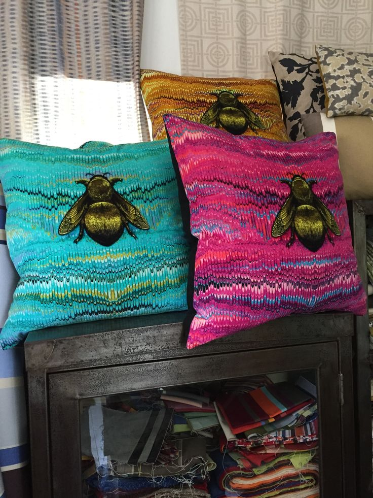 Timorous Beasties cushions in our old showroom