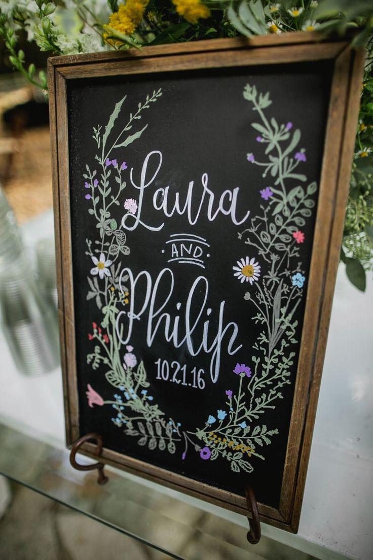 Custom hand lettered wedding welcome sign #Cedarwoodweddings