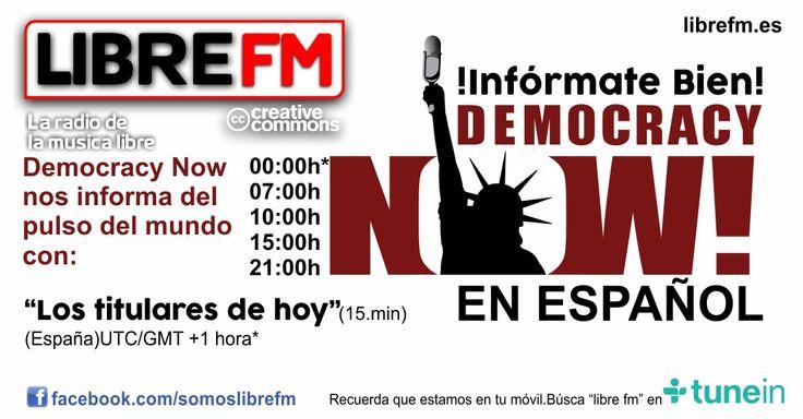Democracy Now En español presentado por los periodistas Amy Goodman y Juan González. DN! desde Nueva York, 15 minutos para repasa las noticias.
