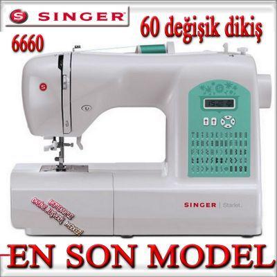 Singer Starlet 6660 Dikiş Makinası Dikiş makineleri EN: 26 cm BOY: 46 cm YÜKSEKLİK: 38 cm AĞIRLIK: 8,29 kg Singer
