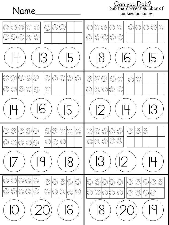 Free Tens and Ones Printable   Kindergarten math worksheets ...