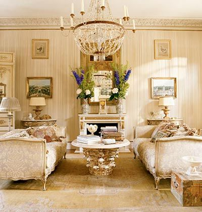 Beautiful French Rooms Over The Top Furniture Makes This Living Room Extra Posh Beautiful