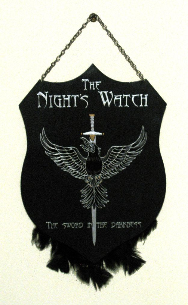 "Pledge your allegiance to the Night's Watch with this plaque. | 32 Brilliant Home Decor Items Inspired By ""Game Of Thrones"""