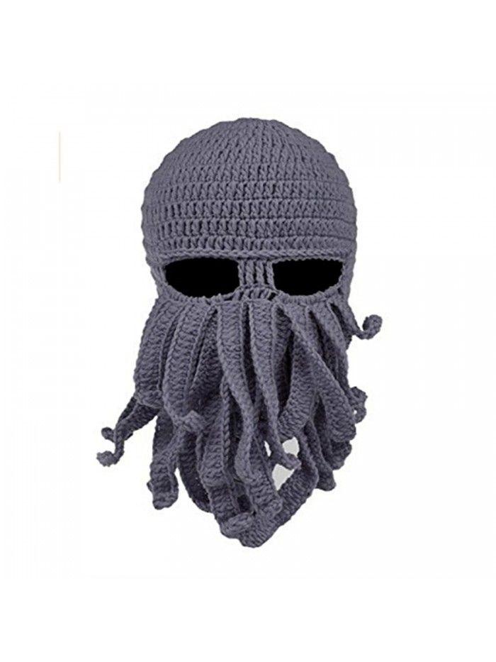 Beanie Octopus Knight Knit Beard Hat Unisex - D-grey - C0185YUTWSM ... 9daa2bfea74