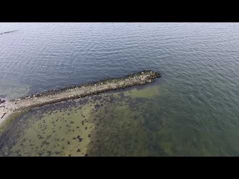 Panoramic video - flight over the sea with drone - sea - beach - video f...