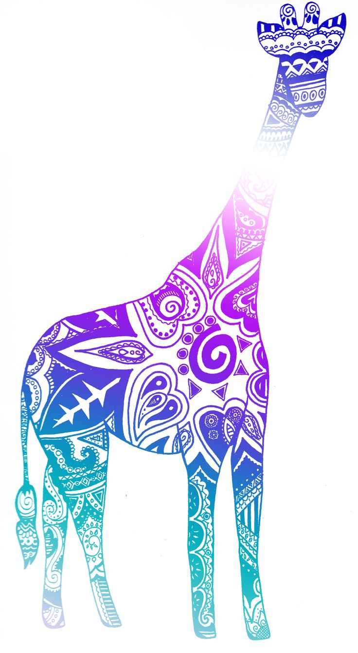 tribal giraffe pink - Google Search