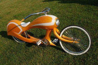 Chrom-Juwelen: Beachcruiser und Chopper-Fahrrad von Jason Battersby