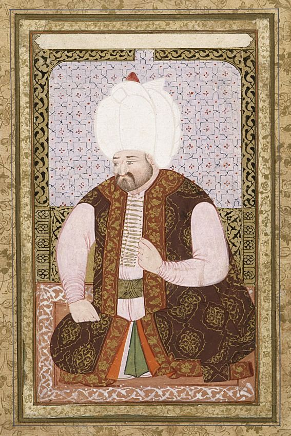 Portrait of Sultan Selim II (reigned 1566-1574) Turkey, circa 1600-1610