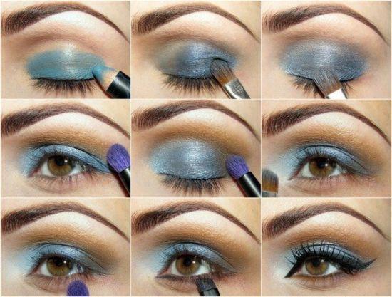 Макияж пошагово!  #макияж #визажист #урокимакияжа #макияжглаз #косметика #стрелки #брови #ресницы #советымакияж #тени