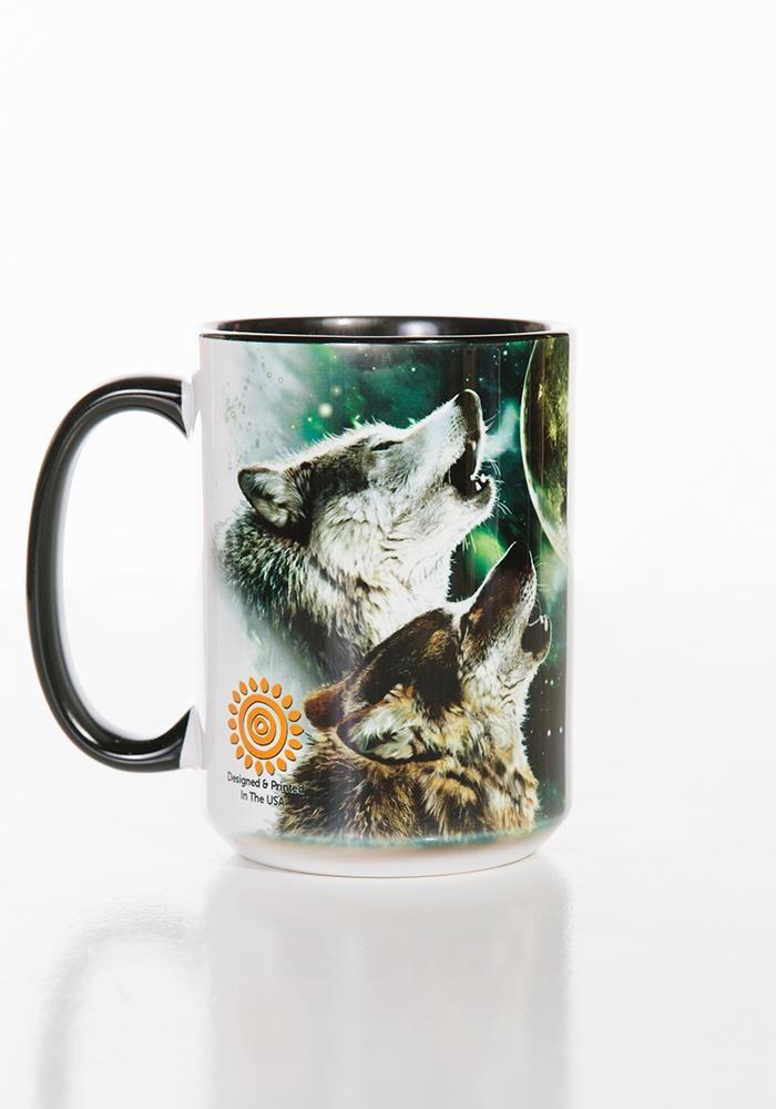 Wolf Coffee Mug | Three Wolf Moon