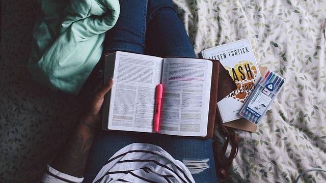 Persona, La Lectura, Estudiar En, Cama, Los Libros