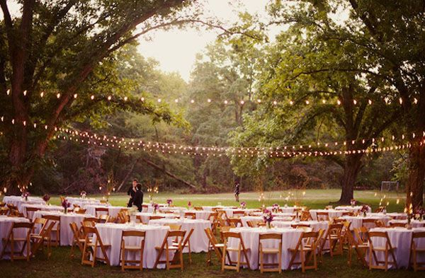 Diy Outdoor Wedding Decorations With Many Beauty Lamp
