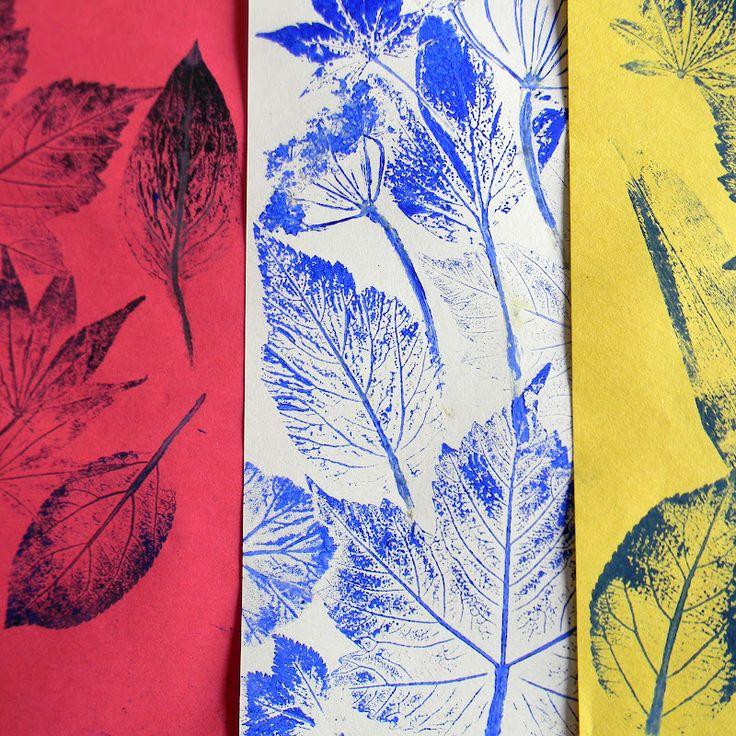 Mangle Prints: Leaf Printing: More gorgeous leaf prints!