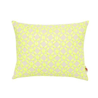 Ben de Lisi Home Designer beige neon geometric bead cushion- at Debenhams.com £22.40
