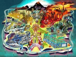 "Bethesda E3 invite features game-themed amusement park with two attractions ""coming… #VideoGames #amusement #attractions #bethesda #coming"