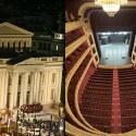 H σκηνή θεάτρου που κηρύχτηκε μνημείο ιστορίας της τεχνολογίας. Δημοτικό Θέατρο Πειραιά