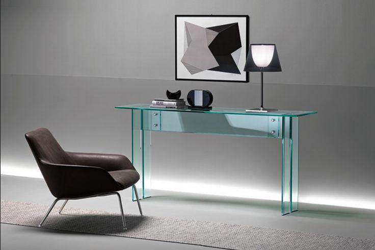 Design side-table LLT | FIAM | Italian design | GlazenDesignTafel.nl | design by Dante O. Benini en Luca Gonzo | Interior design | vidre glastoepassingen, Leiden