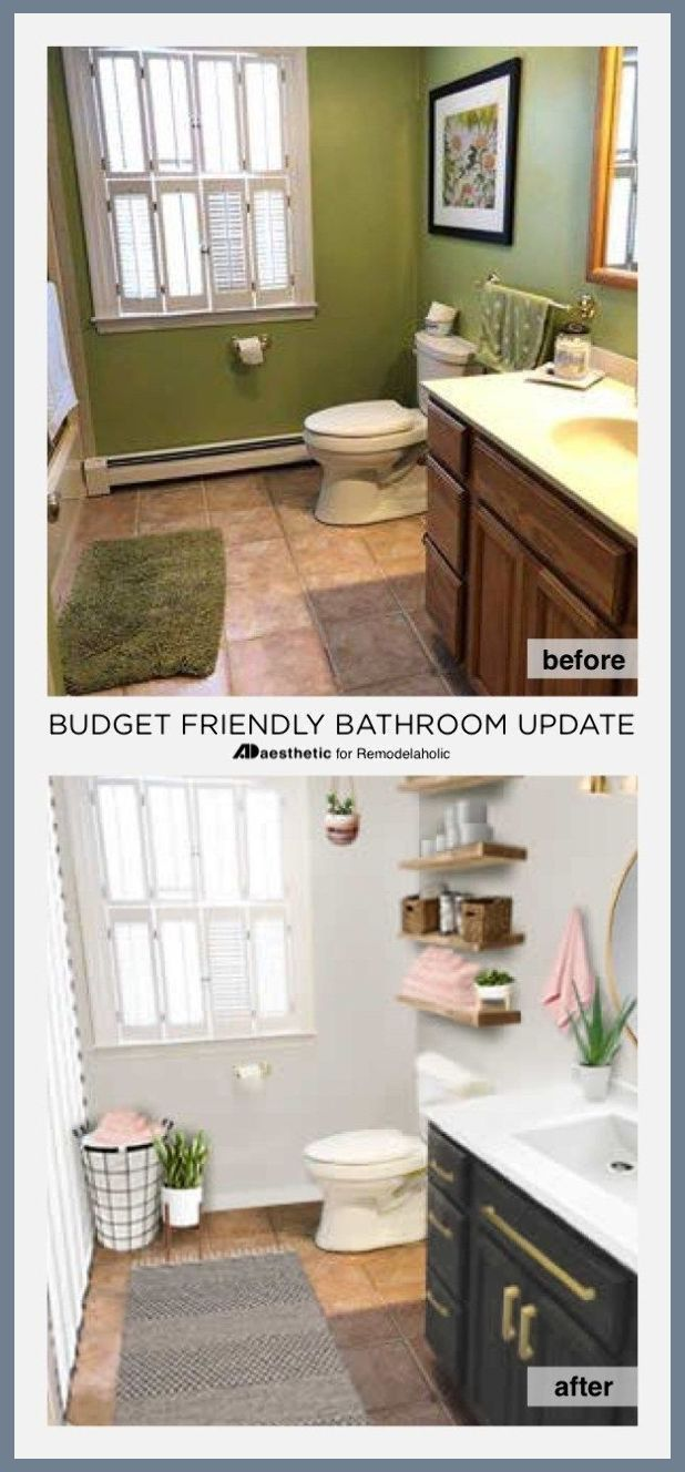 Real Life Rooms Budget Friendly Bathroom Update How To Update A Bathroom On A Budget Tip Simple Bathroom Diy Bathroom Makeover Bathroom Renovation Diy