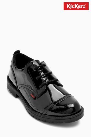 Cumpără Pantofi de lac cu șiret Kickers® Lachly negri azi online la Next…