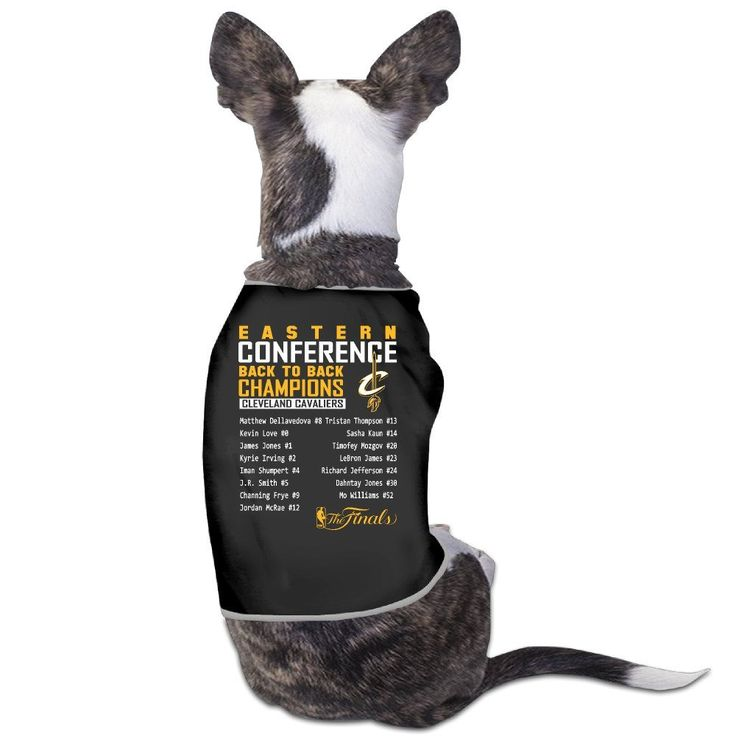 Cleveland Cavaliers LeBron James 2016 Eastern Conference Champions Big and Tall Roster Dog Coats ** Startling review available here  : Dog Cold Weather Coats
