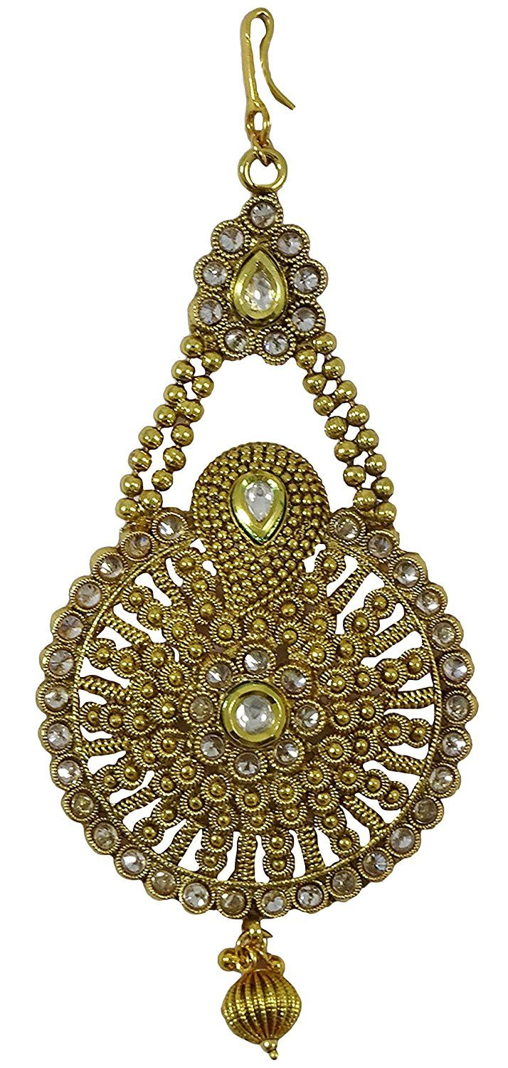 Matra Indian Traditional Bollywood Women Bridal Kundan Hair Jhumar Passa Tikka Jewellery >>> Check this useful article by going to the link at the image.