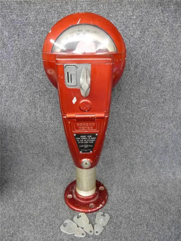 Old Duncan Parking Meter On Base 60 Min 1 5 10 Cent