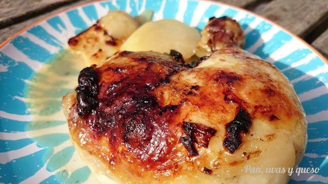 Muslos de pollo con salsa (Crock-Pot y tradicional) | Pan, uvas y queso saben a beso