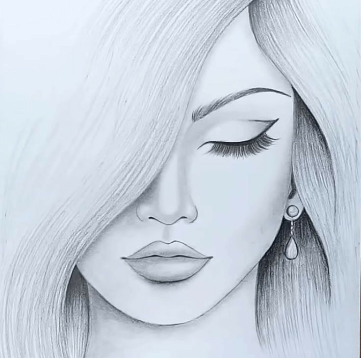 The Most Beautiful Girl Drawing Beautiful Girl Drawing Girl Face Drawing Girl Drawing Easy