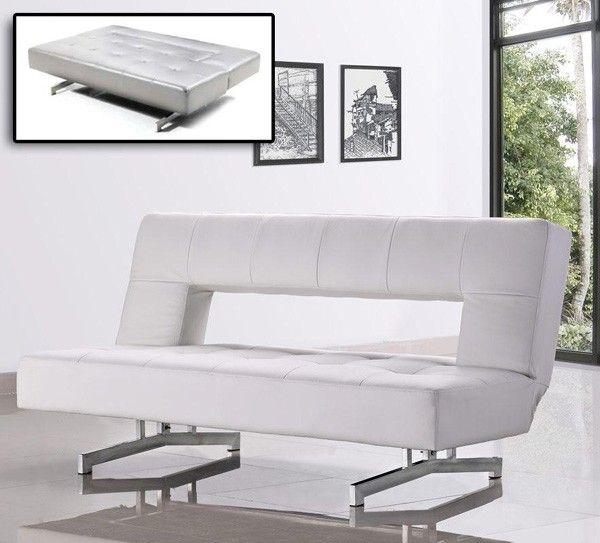 VIG Furniture - Divani Casa 0926 - Modern Fold-Out Eco-Leather Sofa Bed - VGMB0926-WHT