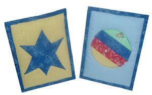 Textile postcard - sewing