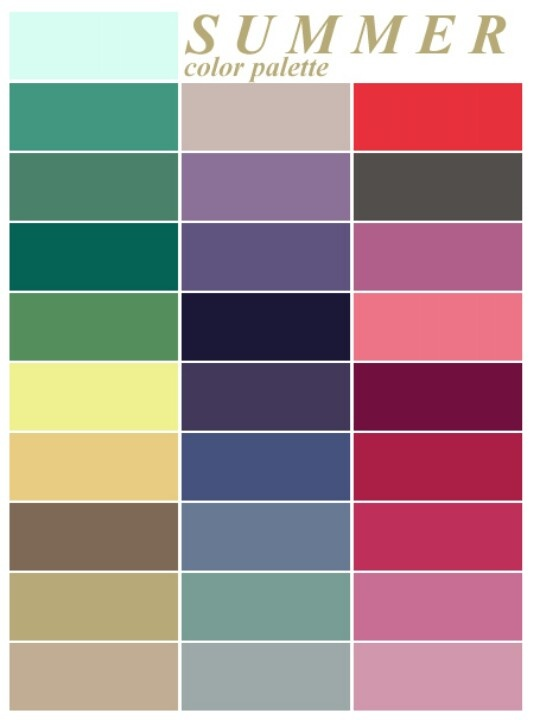 21 Best Four Seasons Color Charts Images On Pinterest