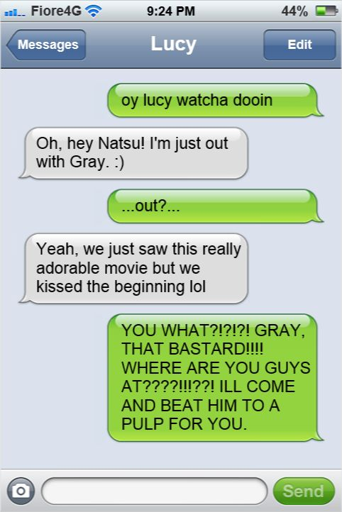 Jealous nastu....Lucy would never kiss Gray....it's just a typo- kissed is supposed to be missed