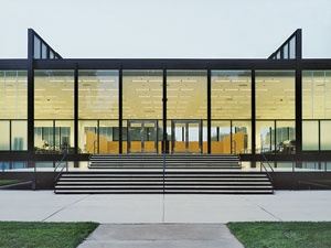 S.R. Crown Hall, Illinois Institute of Technology, Chicago  http://archrecord.construction.com/features/Americas_Best_Architecture_Schools/2012/Architecture-Education-Now/Architecture-of-Architecture-Schools.asp#