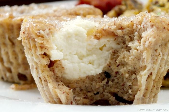 This low carb cheese Danish muffins recipe means breakfast is no longer boring. Quick, easy, and delicious, these muffins have under 3 net carbs each.