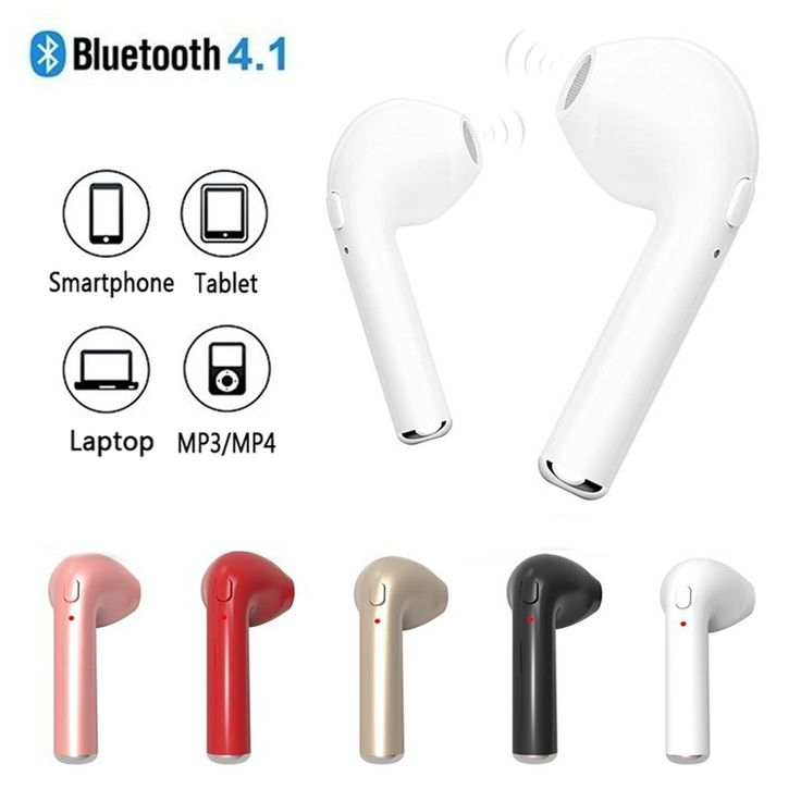 V4.1 TWS Wireless Earphone Bluetooth Headset In-Ear Invisible Music Earbud With Mic For Apple iPhone 6 7 Samsung Xiaomi Sony HTC