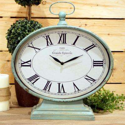 Teal Mantel Clock