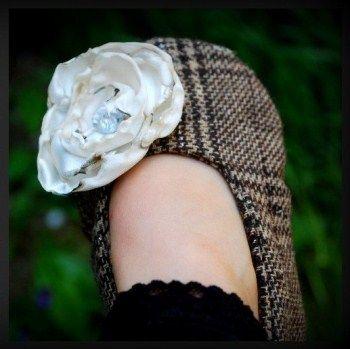 """Brown Tweed """"Aila"""" Handmade Shoes $23.00"""