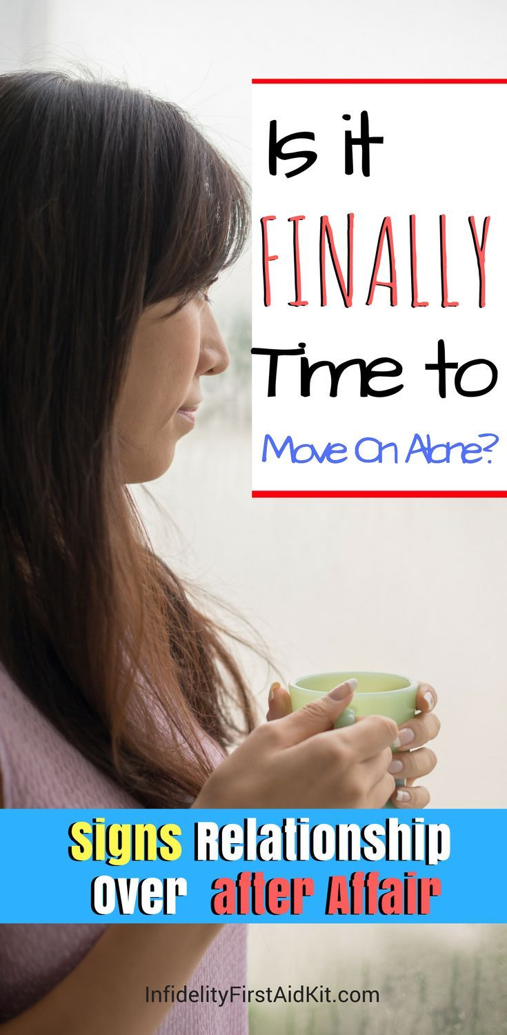 Moving on after infidelity and divorce