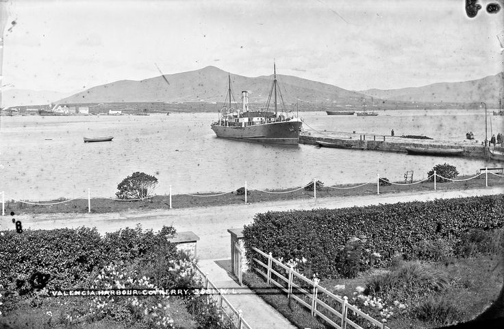 Valencia - Valentia? A storm in a T cup???. National Library of Ireland on The Commons | Perhaps the town with the most exotic name in Ireland Valencia/Valentia (which ever way you choose to spell it) looks delightful in the sun and suitably Mediteranean with the steamer berthed close by! The presence of the steamer will probably help with the dating of this shot? Wishing all our Irish friends a happy Bank Holiday weekend and a good weekend to those outside Ireland. Photographer: Robert…